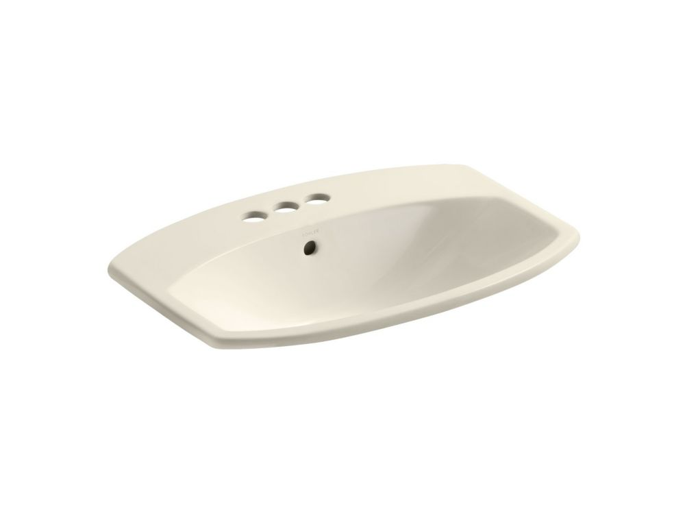 Cimarron 23-inch L x 18 3/16-inch H Self-Rimming Bathroom Sink in Almond