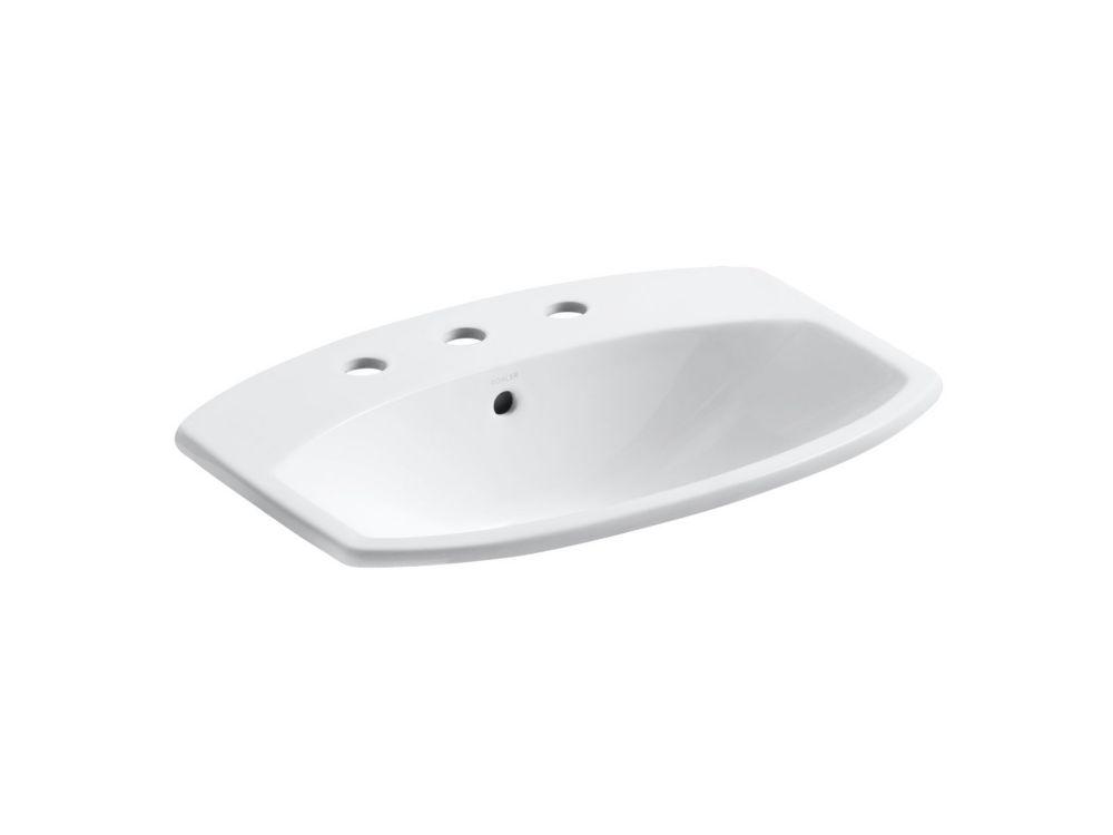 Cimarron 23-inch L x 18 3/16-inch H Self-Rimming Bathroom Sink in White
