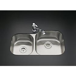 KOHLER Undertone Extra-Large/Medium Undercounter Kitchen Sink