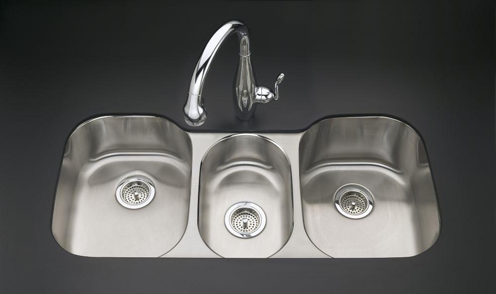 Undertone(R) Triple-Basin Undercounter Kitchen Sink