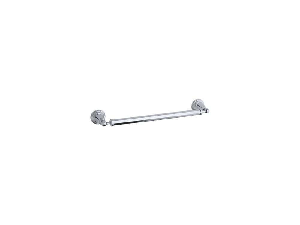 Pinstripe 18 Inch Towel Bar in Polished Chrome