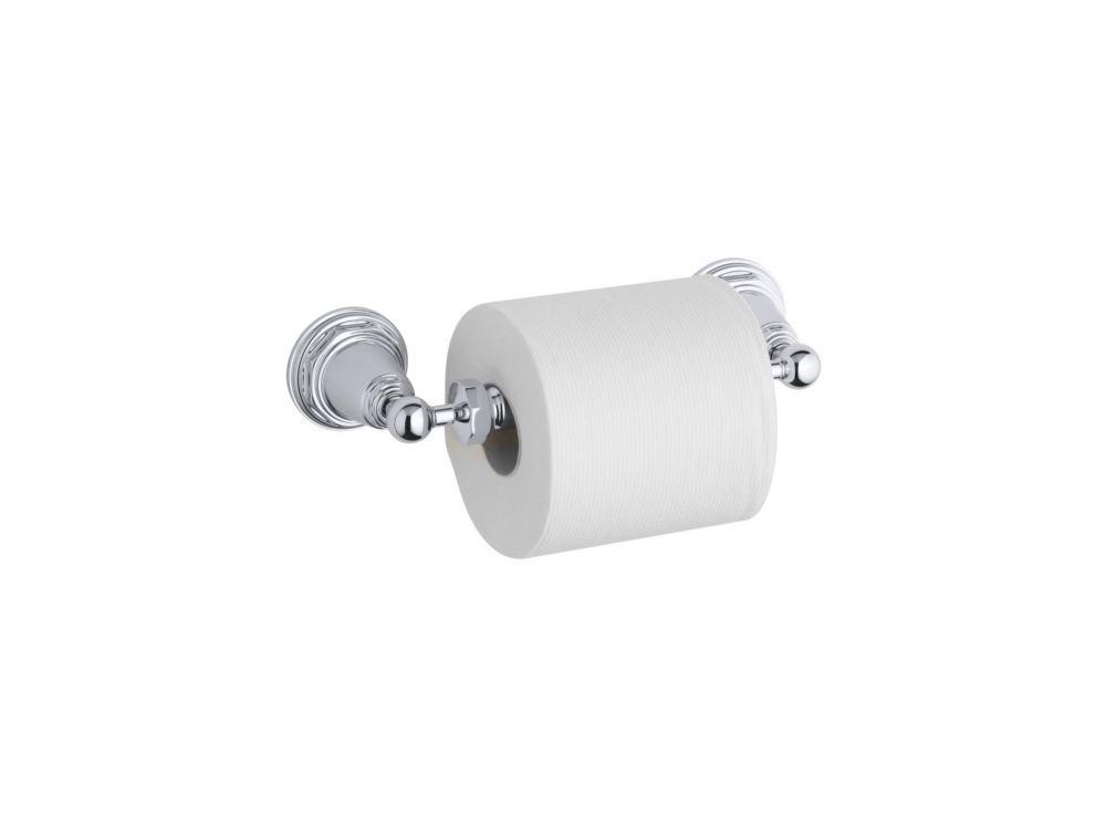 Pinstripe Toilet Tissue Holder in Polished Chrome