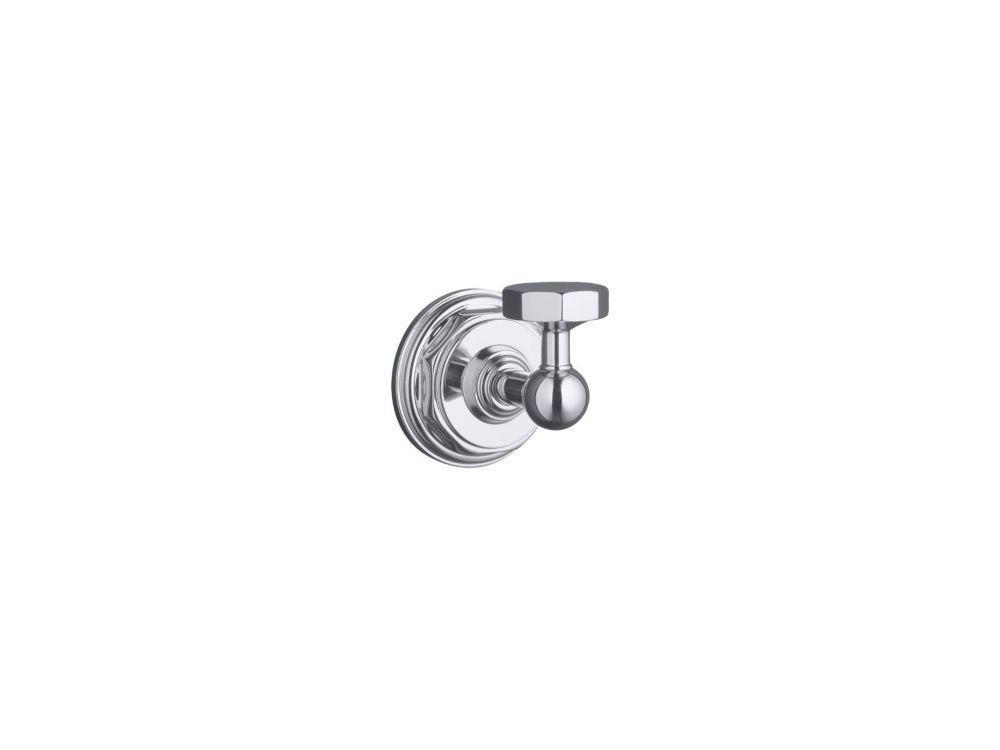 Pinstripe Robe Hook in Polished Chrome