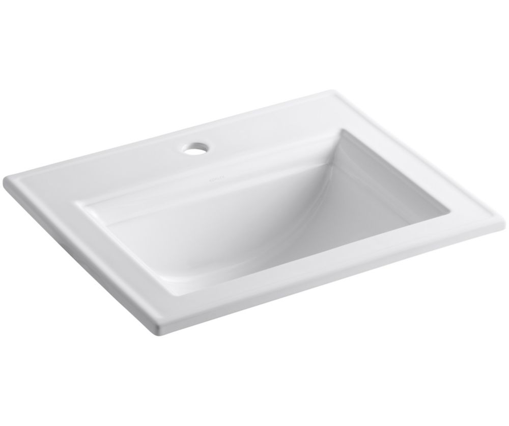 Memoirs 22 3/4-inch L x 18-inch H Self-Rimming Bathroom Sink in White
