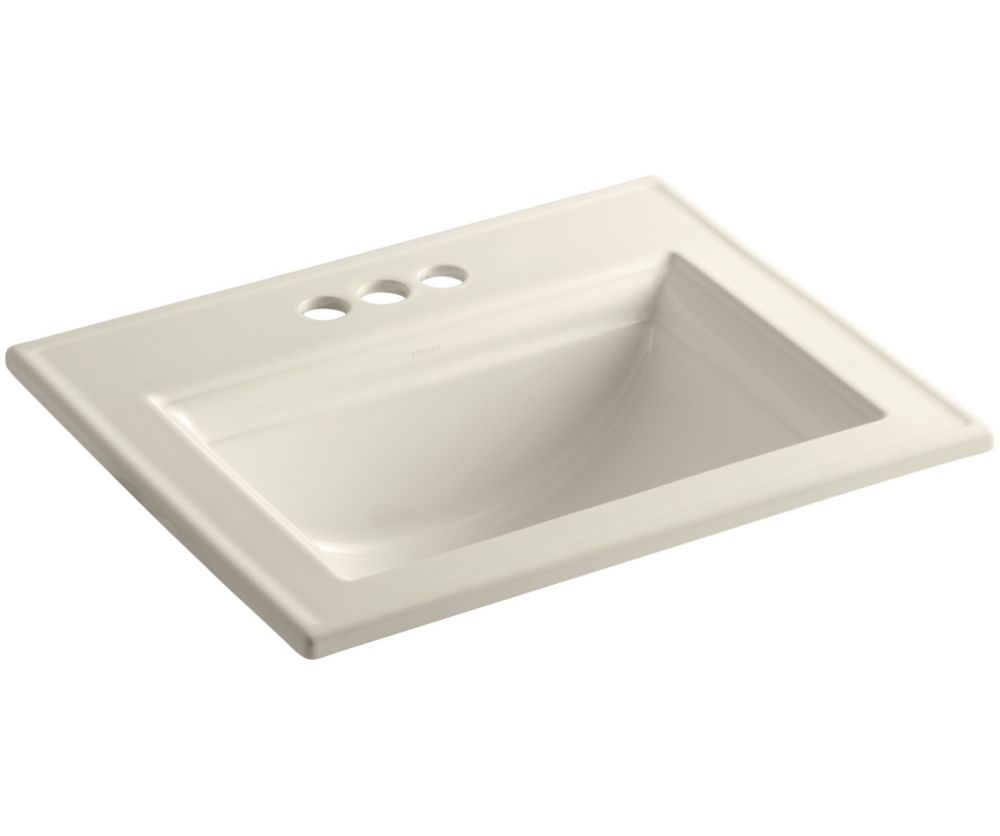 Memoirs 22 3/4-inch L x 18-inch H Self-Rimming Bathroom Sink in Almond
