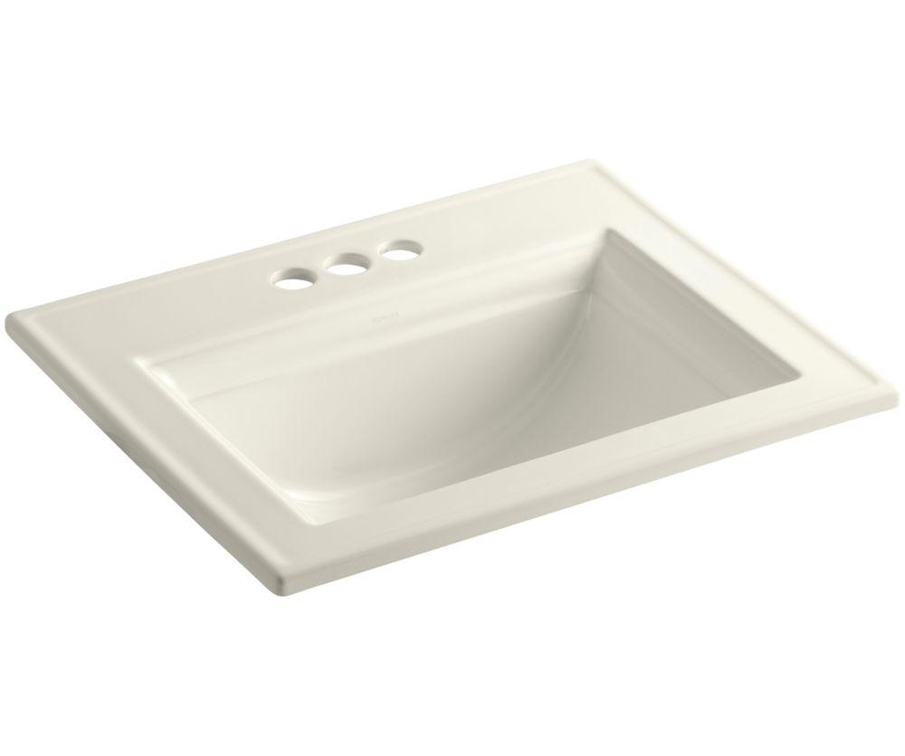 Memoirs 22 3/4-inch L x 18-inch H Self-Rimming Bathroom Sink in Biscuit