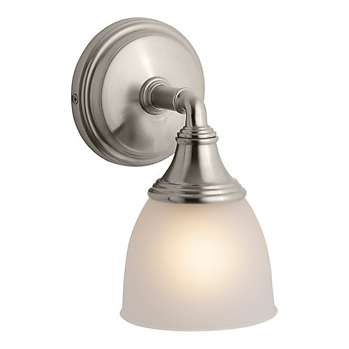 Devonshire 1-Light Brushed Nickel Wall Sconce