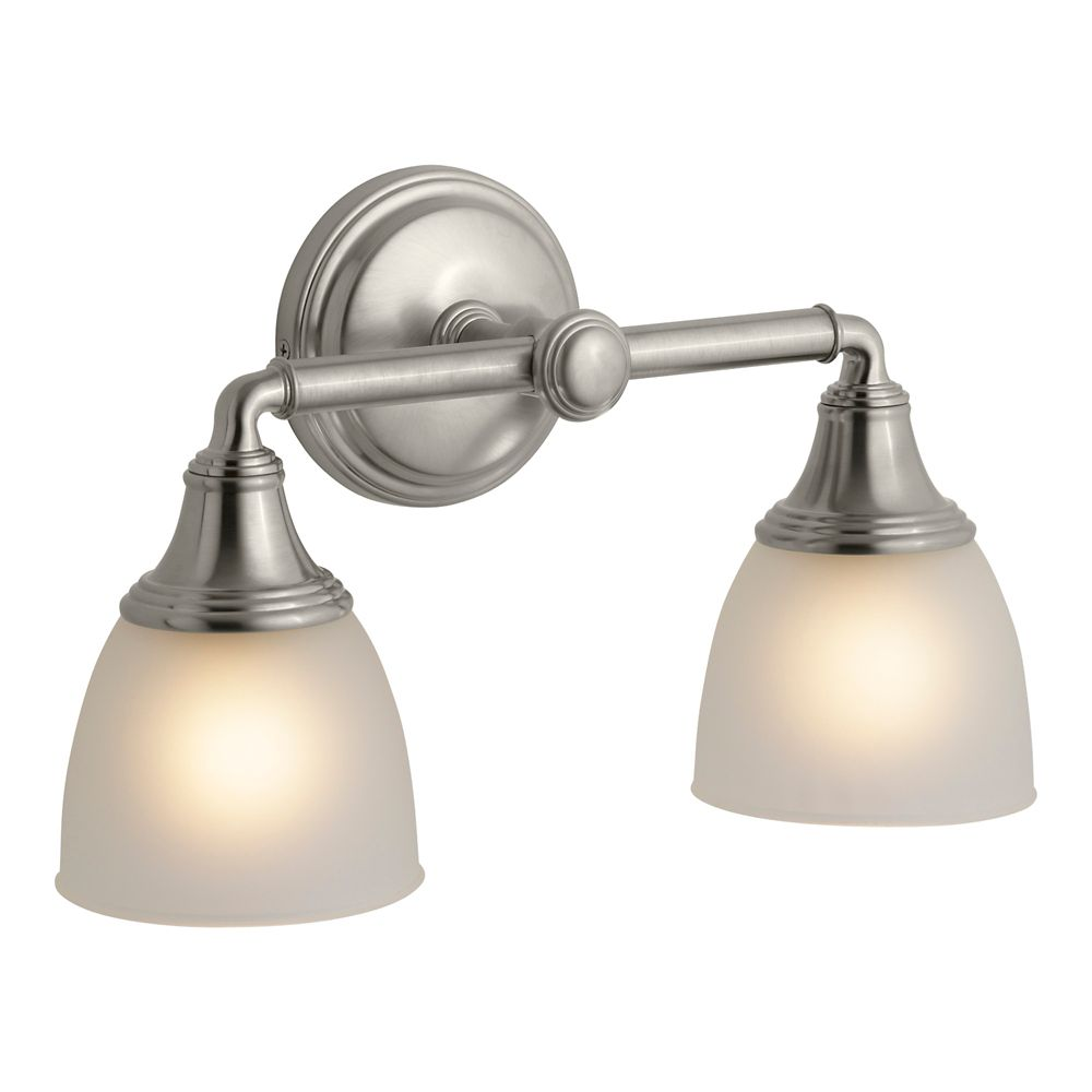 Devonshire Double Wall Sconce in Vibrant Brushed Nickel