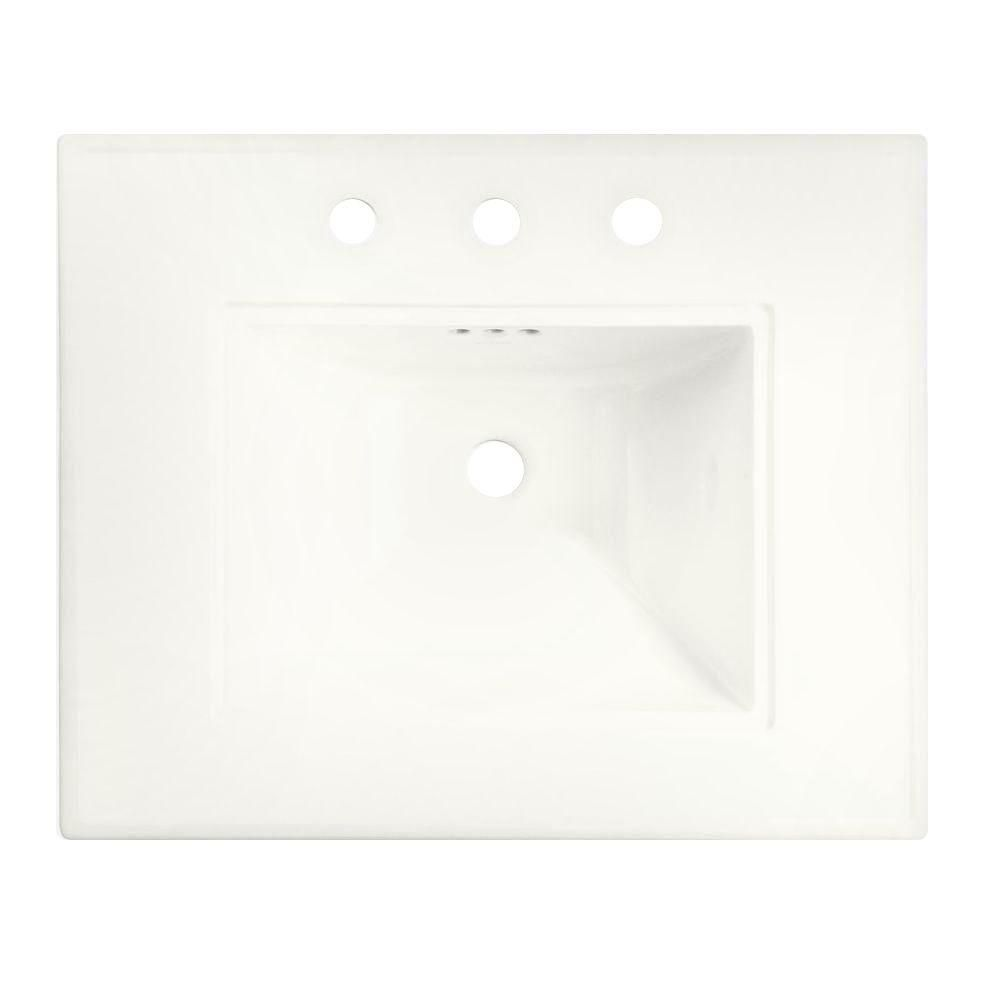 Memoirs Bathroom Sink Basin with Single Hole Installation in White