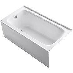 bancroft 5 feet bathtub with lefthand drain in white - Kohler Archer Tub
