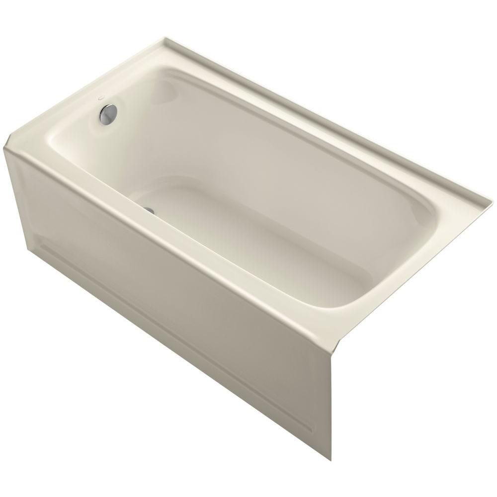 Bancroft 5 Feet Bathtub with Left-Hand Drain in Almond