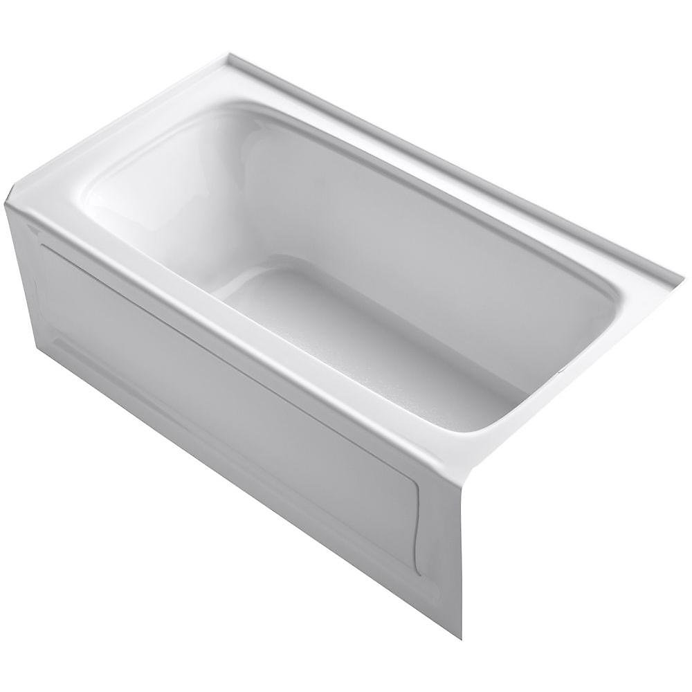 """Bancroft(R) 60"""" x 32"""" alcove bath with integral apron, integral flange and right-hand drain"""
