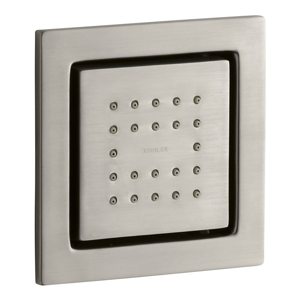 WaterTile Square 22-Nozzle Body Spray in Vibrant Brushed Nickel