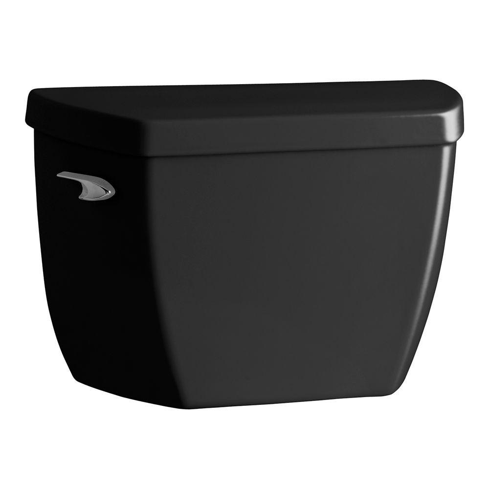 KOHLER Highline Pressure Lite 5.3 LPF Single-Flush Toilet Tank Only in Black