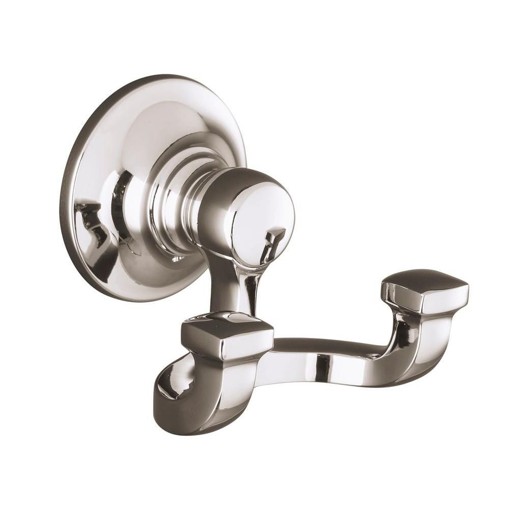 Bancroft Robe Hook in Vibrant Polished Nickel