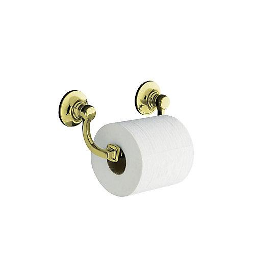 Bancroft Toilet Tissue Holder in Vibrant French Gold
