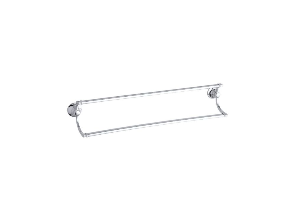 Bancroft 24 Inch Double Towel Bar in Polished Chrome