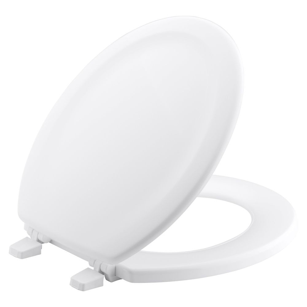 Stonewood Round, Closed-Front Toilet Seat in White K-4648-0 Canada Discount