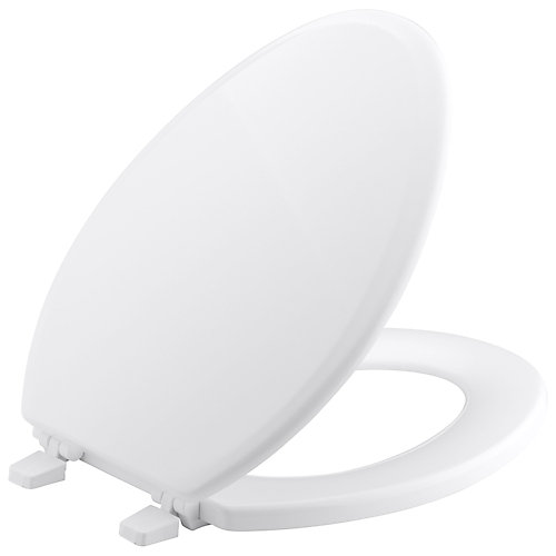 Ridgewood Elongated Closed Front Toilet Seat in White
