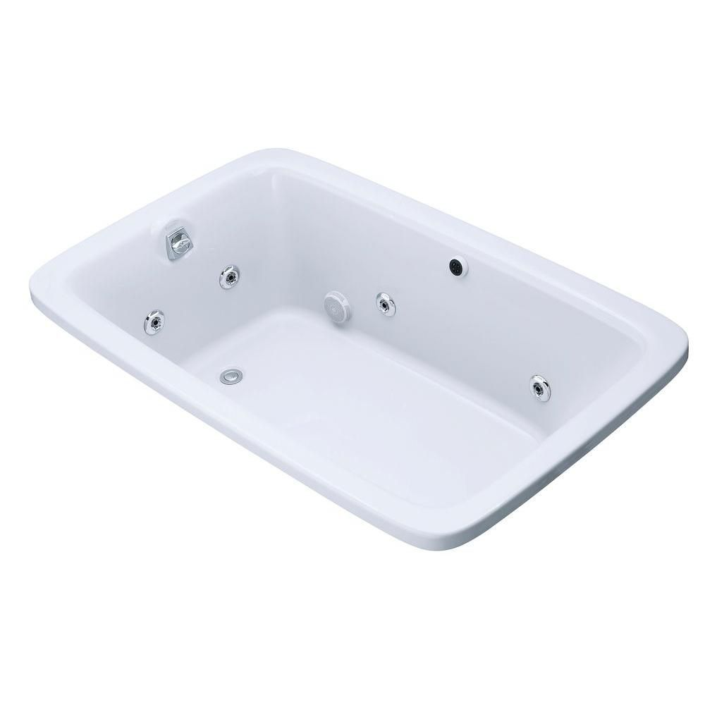 KOHLER Bancroft 5 Feet 6-Inch Whirlpool Bathtub in White