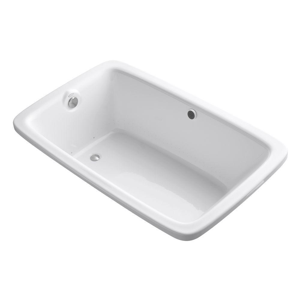 KOHLER Bancroft 5 Feet 6-Inch BubbleMassage Bathtub in White