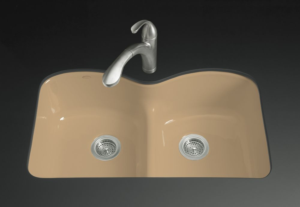 Langlade Smart Divide Undercounter Kitchen Sink in Mexican Sand