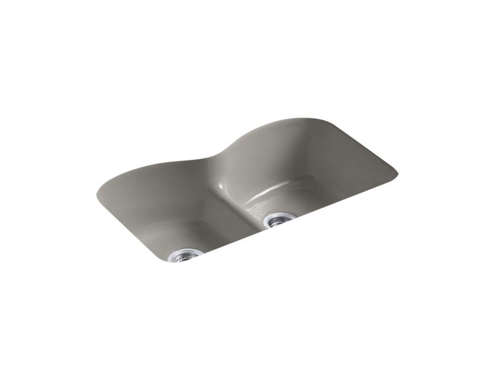 Évier de cuisine sous comptoir Langlade(R) Smart Divide(TM) avec forage de robinet à trois orific...