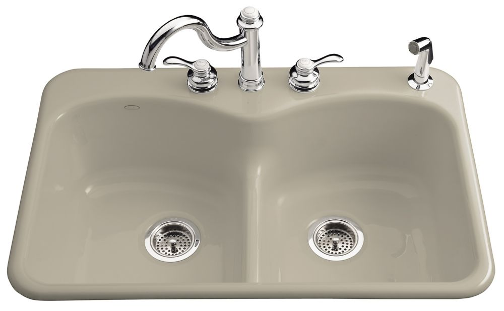 Langlade Smart Divide Self-Rimming Kitchen Sink in Sandbar K-6626-4-G9 in Canada