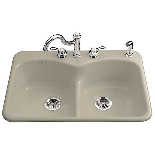 Langlade Smart Divide Self-Rimming Kitchen Sink in Sandbar