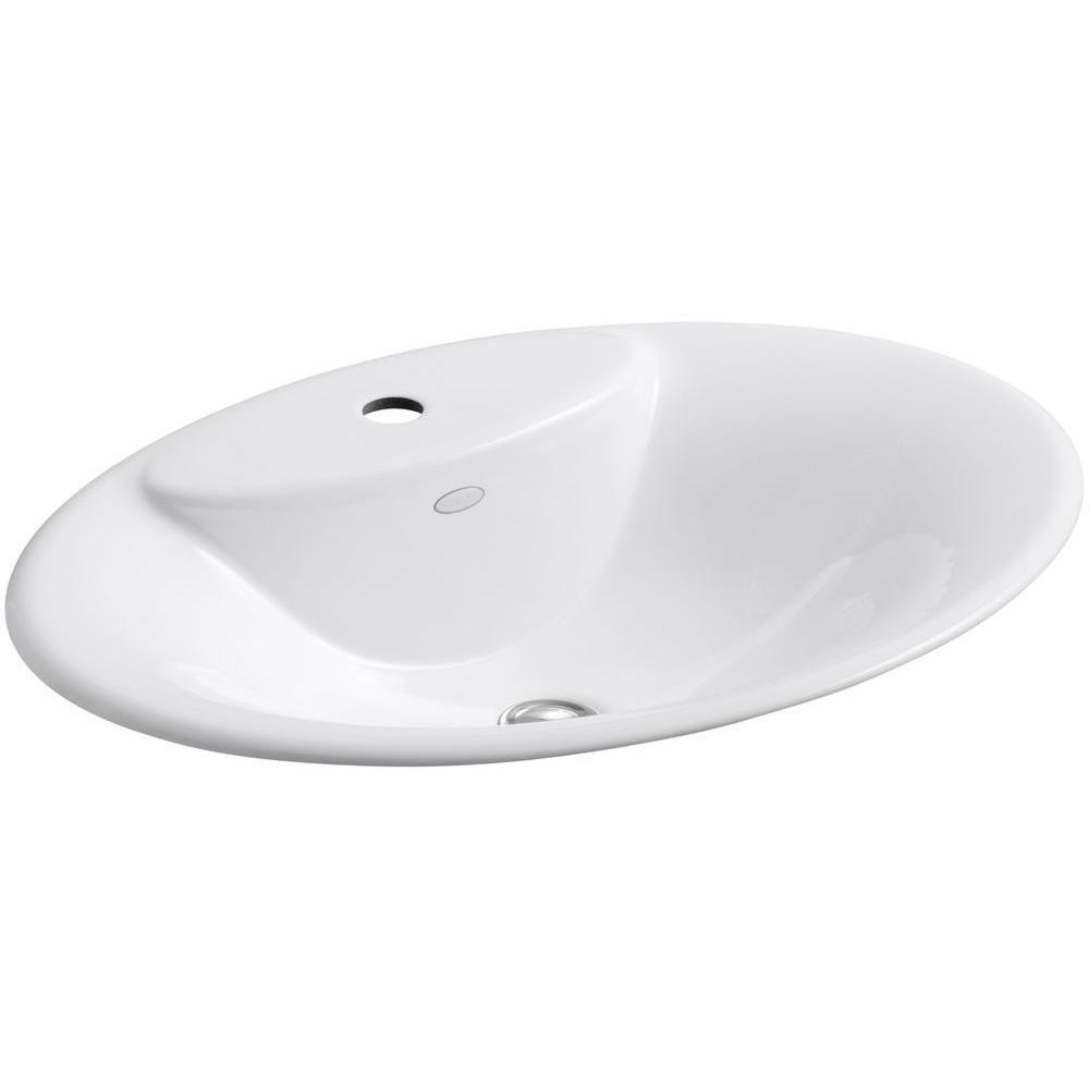 Maratea 22 5/8-inch L x 17 1/4-inch W Self-Rimming Bathroom Sink in Biscuit