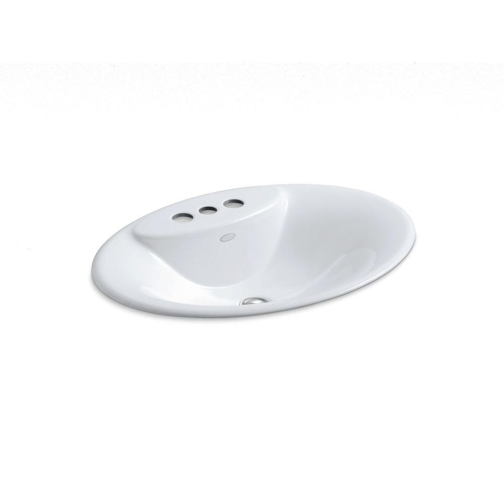 Maratea 22 5/8-inch L x 17 1/4-inch W Self-Rimming Bathroom Sink in White