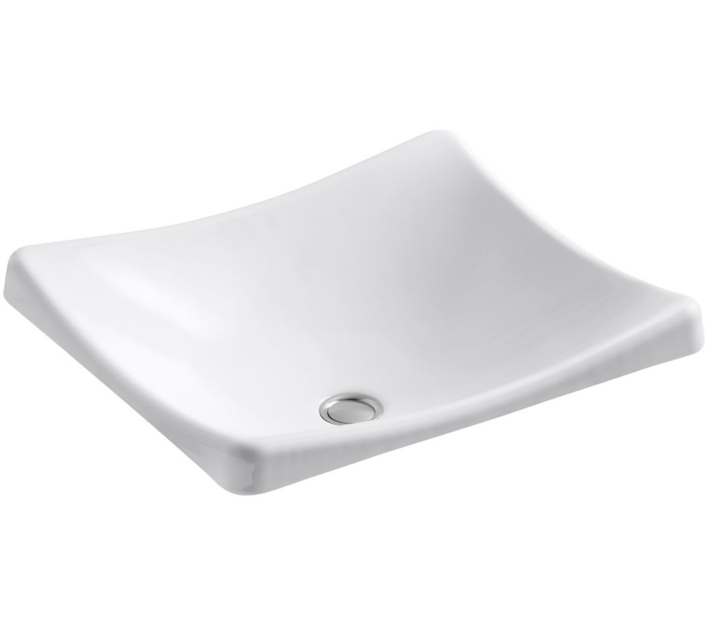 Demilav Wading Pool Vessel Sink in White