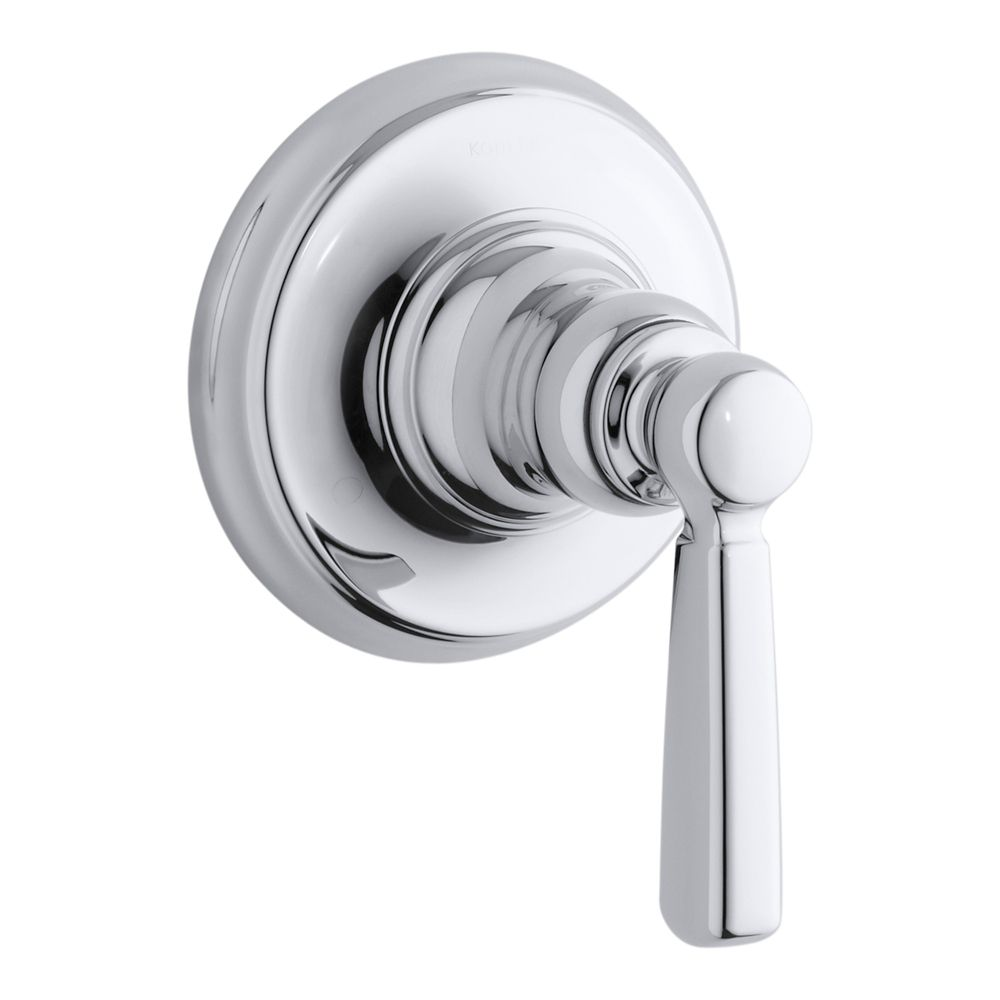 Bancroft Transfer Valve Trim With Metal Lever Handle, Valve Not Included in Polished Chrome