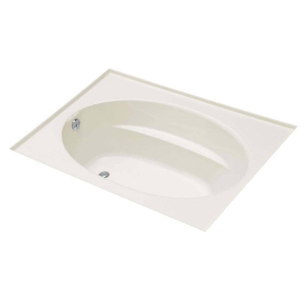 Windward<sup>®</sup> 5 Feet Oval Drop-in Non Whirlpool Bathtub in White