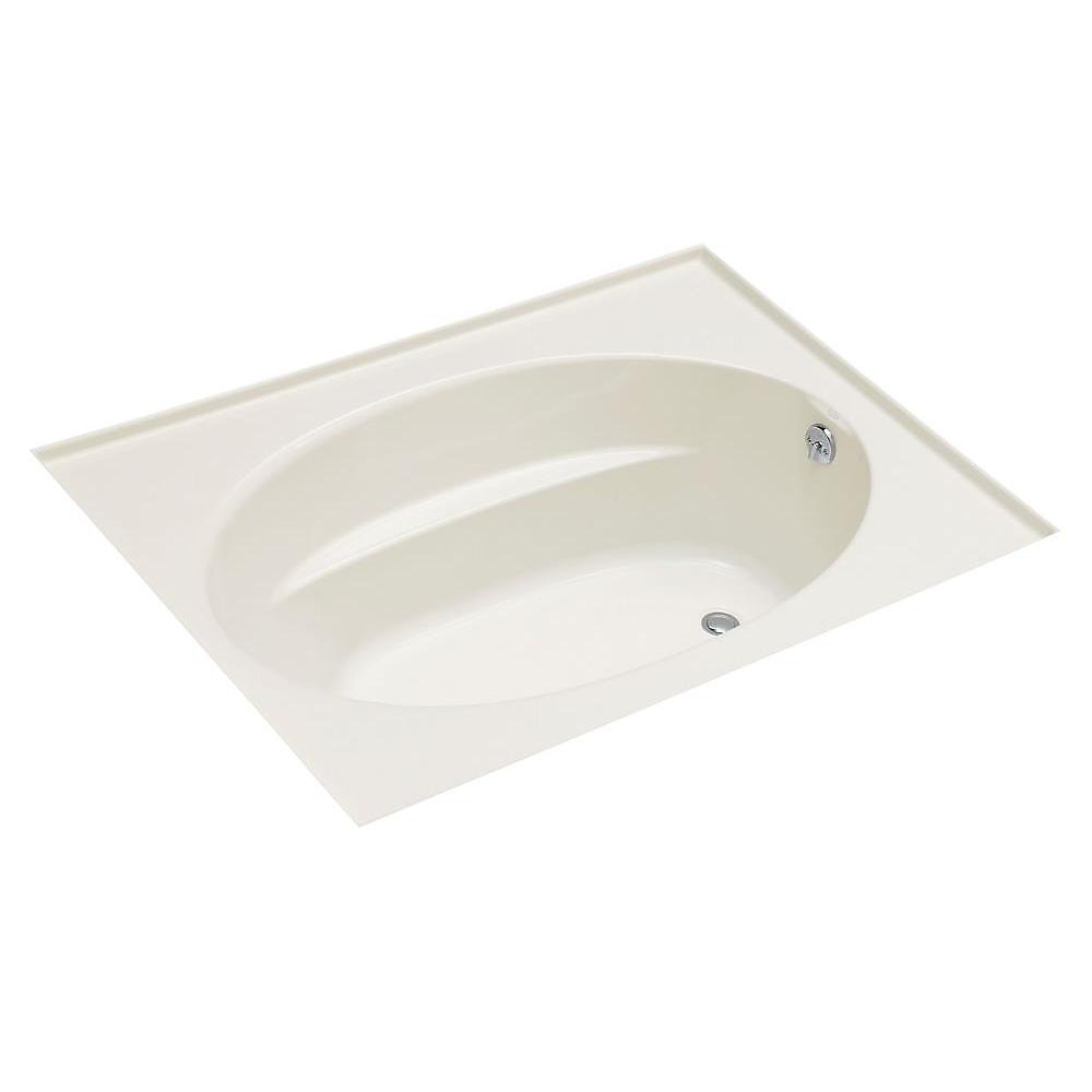 """Windward(R) 60"""" x 42"""" alcove bath with integral flange and right-hand drain"""
