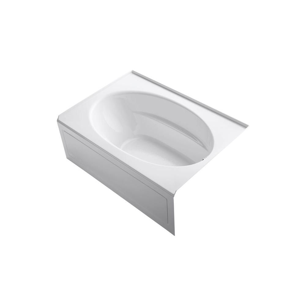 KOHLER Windward 5 ft. Acrylic Right-Hand Drain Rectangular Alcove Soaking Tub in White