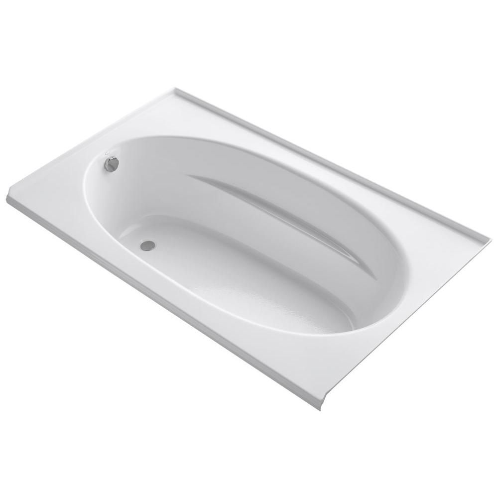 Windward<sup>®</sup> 6 Feet Oval Drop-in Non Whirlpool Bathtub in White