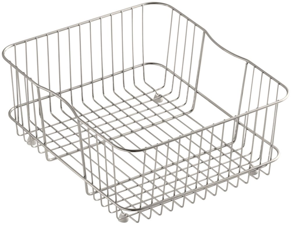Coated Wire Rinse Basket in Stainless Steel