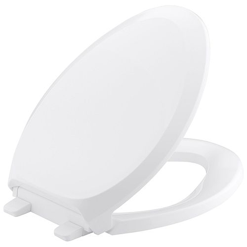 KOHLER Siege de toilette allonge French Curve Quiet-Close avec Grip-Tight
