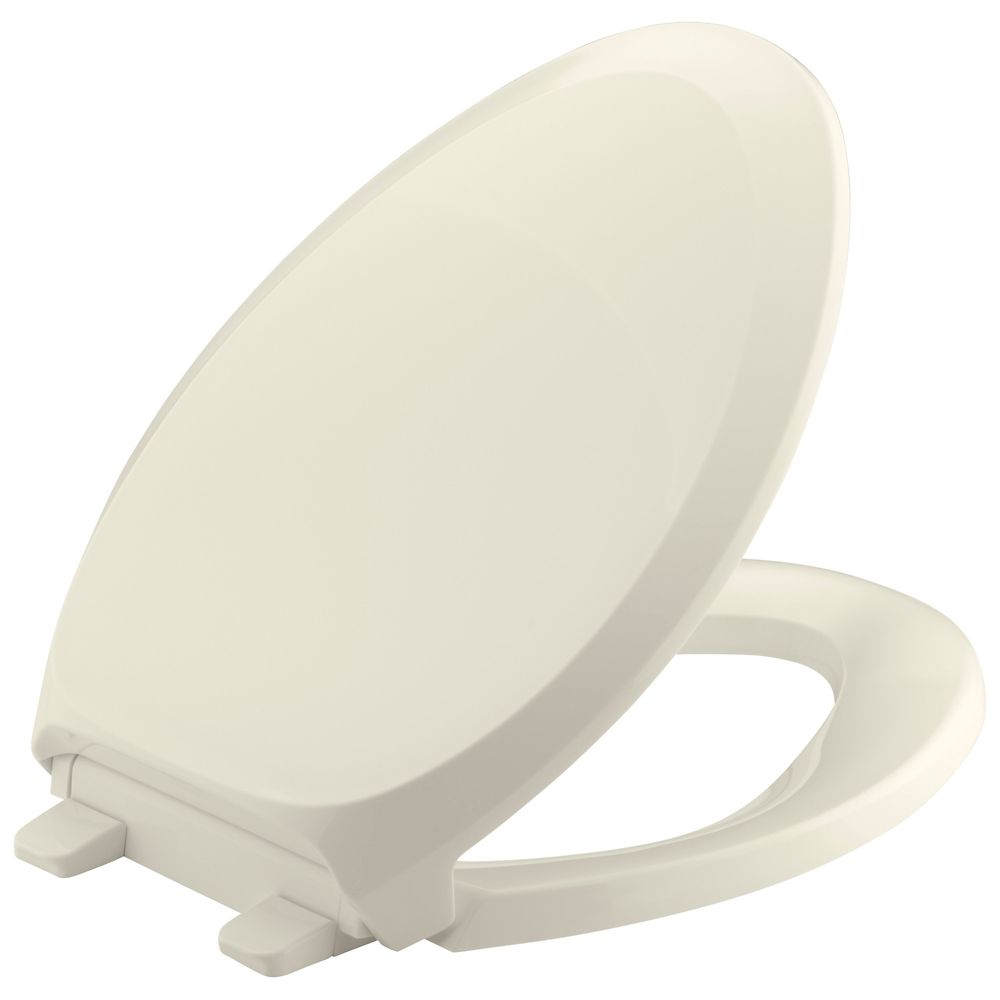 French Curve Quiet Close Elongated Toilet Seat in Almond