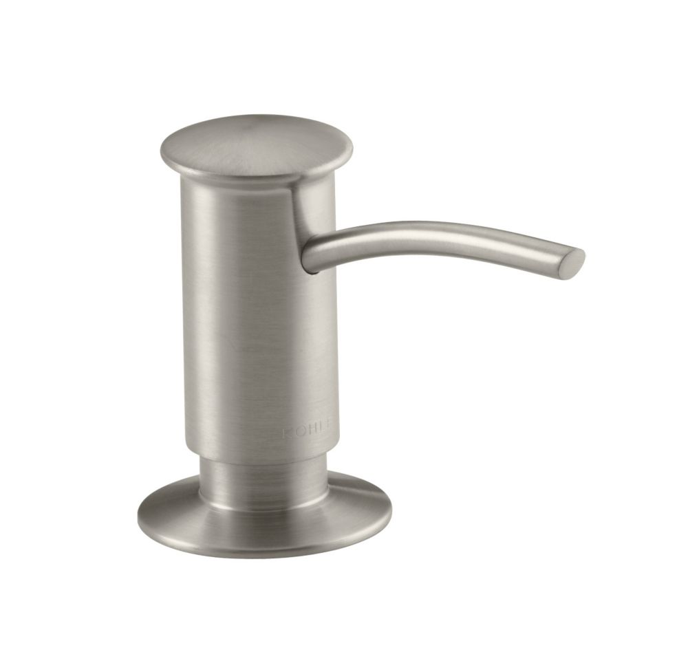 Soap/Lotion Dispenser With Contemporary Design (Clam Shell Packed) in Vibrant Brushed Nickel