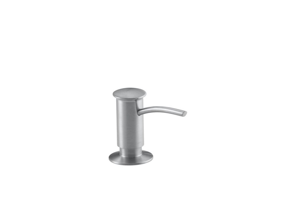 Soap/Lotion Dispenser With Contemporary Design (Clam Shell Packed) in Brushed Chrome