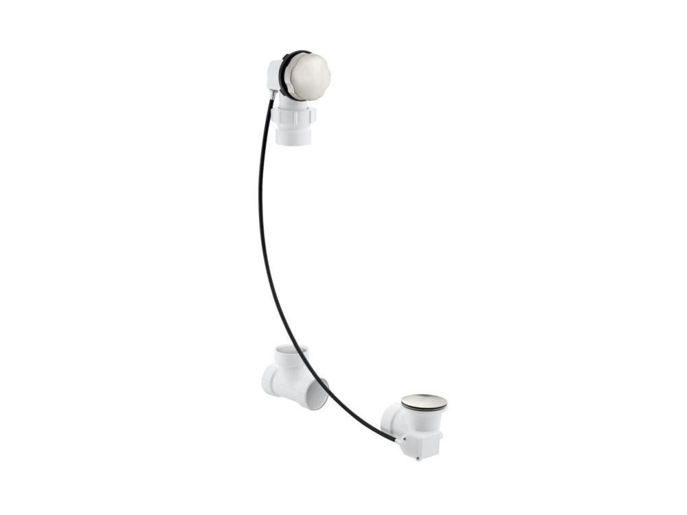 KOHLER Clearflo Cable Bath Drain, Less Pvc Tubing in Vibrant Brushed Nickel