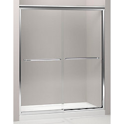 KOHLER Fluence 3/8 Inch Thick Glass Bypass Shower Door in Bright Polished Silver