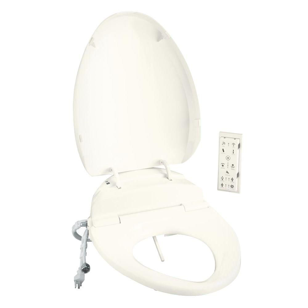 C3-200 Elongated Toilet Seat in Biscuit with Bidet Function