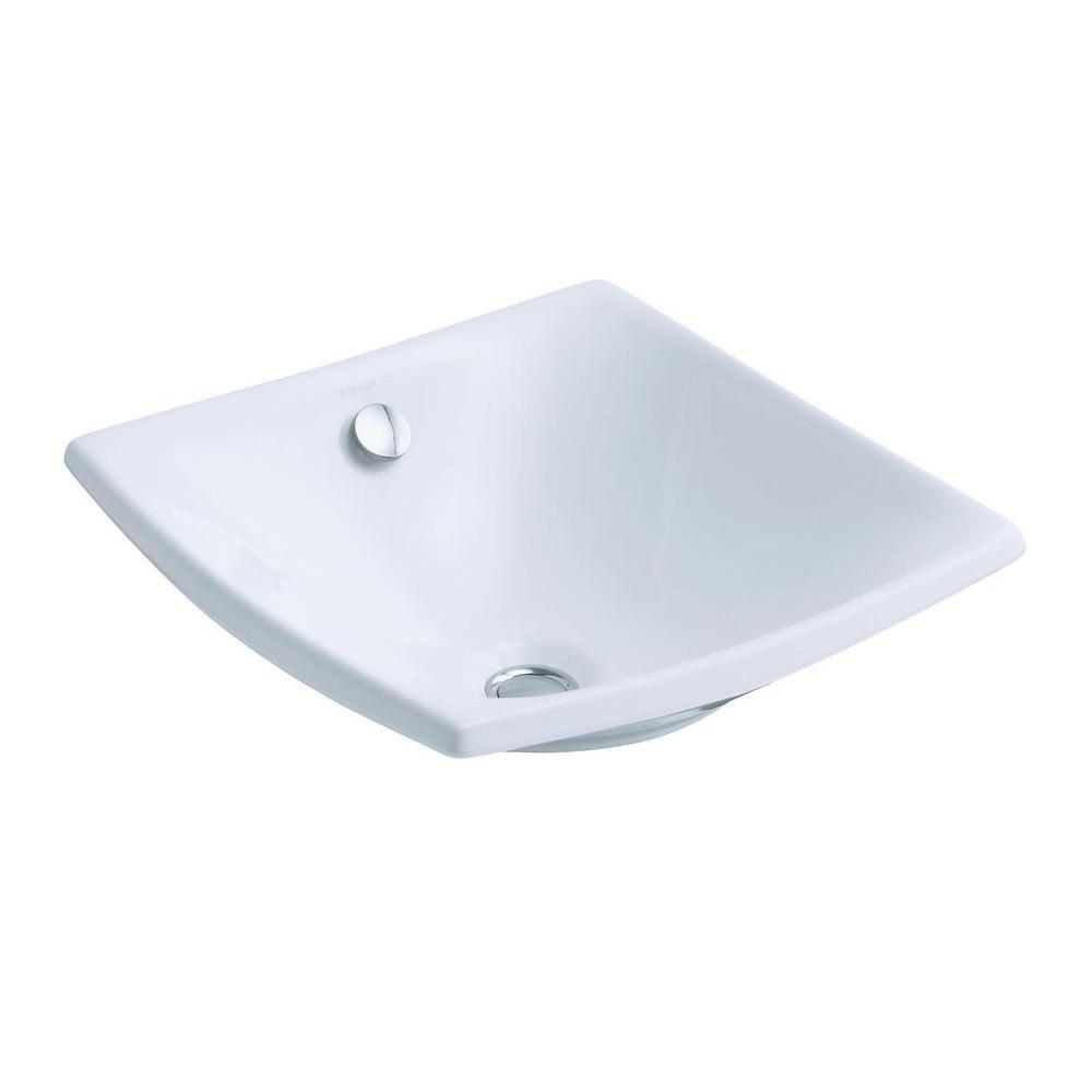 KOHLER Escale Vessel Sink in White