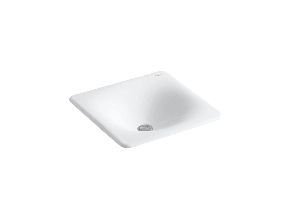Iron/Tones Cast Iron Bathroom Sink in White