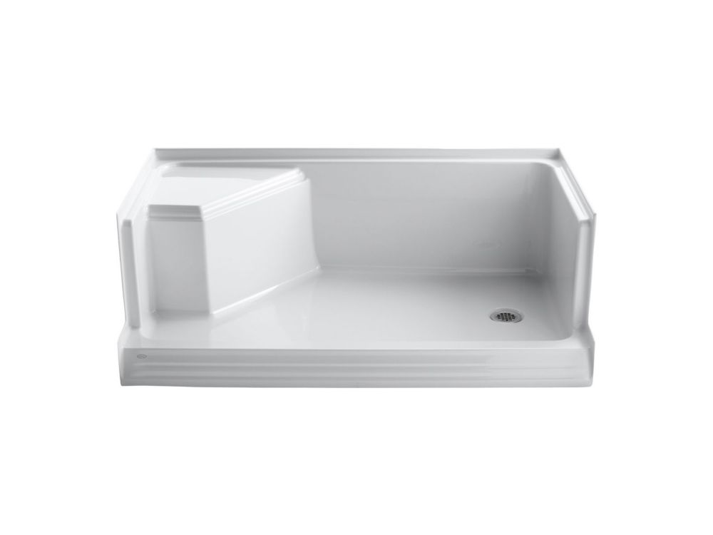 Memoirs 60 Inch Shower Receptor in White