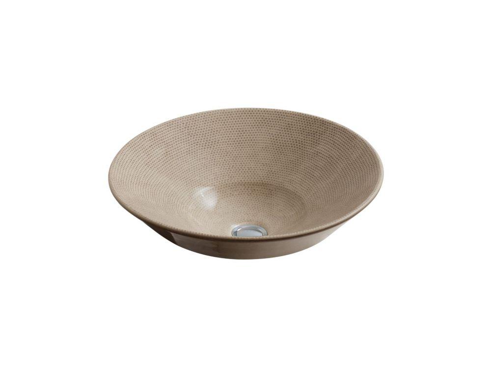 Conical Bell Vessel Sink in Bouclé Tweed