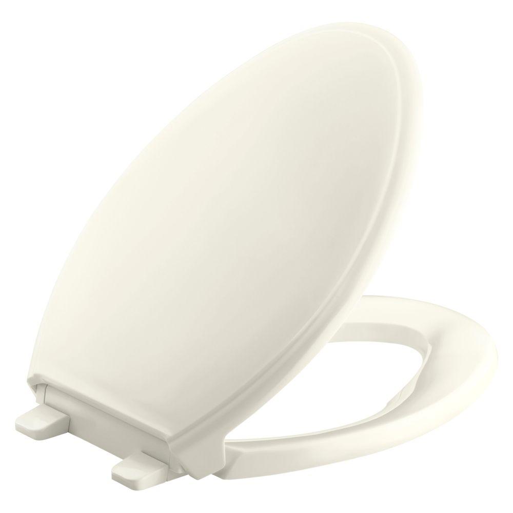 Siège de toilette allongée de la collection Glenbury(TM) Quiet-Close(TM) avec technologie Quick-R...